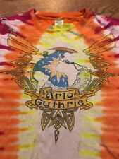 Vintage 80's Arlo Guthrie: Silver Anniversary Tour Tie Dye Distressed Tshirt- XL