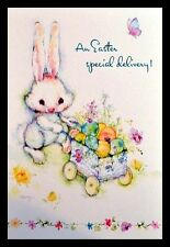 349-GC Mary Hamilton RABBIT Unused Easter Greeting Card
