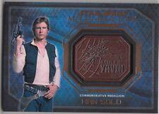 Topps Star Wars Masterwork Bronze Medallion Han Solo Battle of Yavin