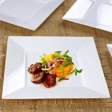 """10/pk  White 10.75"""" Square Disposable Plastic Plate  Catering"""