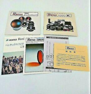 ASAHI  PENTAX accessory K  & lens catarog  rare japan pentax