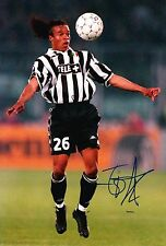 Edgar Davids Signed 12X8 Photo JUVENTUS AFTAL COA (9129)