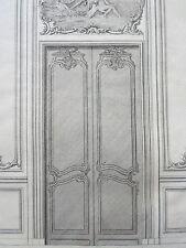 GRAVURE BLONDELXVIIIéme PORTE APPARTEMENT ORNEMENT ARCHITECTURE DECORATION