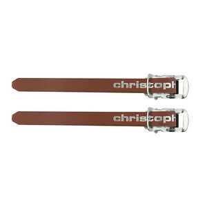 TAN BROWN ZEFAL CHRISTOPHE BICYCLE TOE CLIP STRAPS LEATHER VINTAGE NEW 370 mm