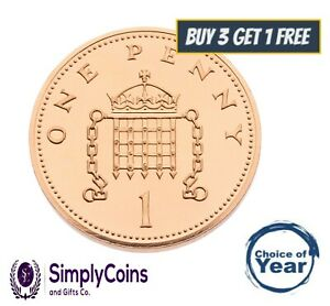 PROOF: BRITISH PENNIES PENNY DECIMAL 1p COINS 1971 - 2020 - CHOICE OF YEAR/DATE