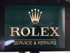 Rolex Dealer sign Rolex watch wall sign Green Coloured Watchmakers Brass
