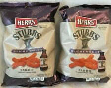 """Herr's Stubb""""s Bar-B-Que Cheese Curls Lot of 2-6.5 oz Best By 9/18/20 Free Ship"""