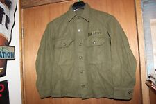 US Military Issue Army Olive Green Cold Weather Field Shirt Wool Jacket Vintage3
