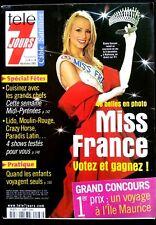 Télé 7 Jours 12/5/2001;  Elodie Gossuin Miss France remet sa couronne