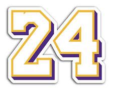 Lakers Kobe Bryant Sticker 24 Basketball Decals NBA