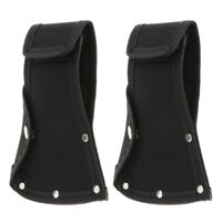 2Pcs Oxford Cloth Axe Protection Sheath Cover Black for Camping Outdoor