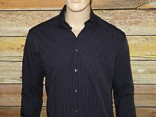 NEW John Varvatos Shirt in Ink Blue Size 17x32-33 Slim Fit NWT Button-Down