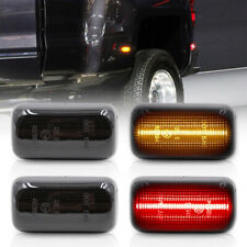 Smoked Lens LED Dually Rear Fender Marker Light for 15-up Chevy Silverado Sierra