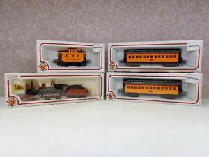 LOT/4 Bachmann HO Scale Trains 51001, 72901, 72701, 72801 Engine Caboose NIB