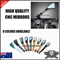CNC Motorcycle 8mm 10mm Rear view Side Mirrors Yamaha TDM900 FZ1 FZ6 XJ6 YBR