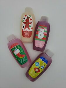new AVON Holiday BUBBLE BATH MINI TRAVEL SIZE - lot of 4 - 1.7 oz  each