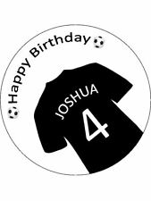Black Football Shirt Personalised Stickers Birthday Party Gift Bags Cone 41 45mm