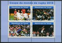 Chad 2019 CTO Rugby World Cup 4v M/S II Sports Stamps