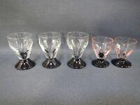Lot de 5 petits verres à liqueur ou digestif vintage old vintage glasses