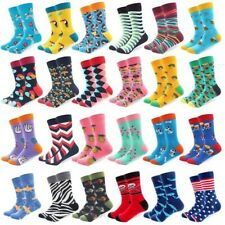Mens Cotton Socks Novelty Cartoon Animal Fruit Colorful Funny Casual Dress Socks