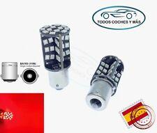 2 X BOMBILLAS LED COCHE BA15S CANBUS 60 SMD 2835 1156 P21W FRENO ROJO