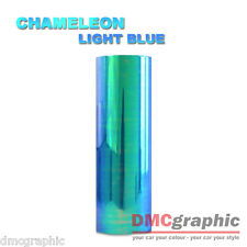 2xA4 Chameleon Light Blue Car Motorbike Headlight Tail Light Vinyl Tint Wrap