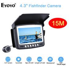 EYOYO 15M Ice Fish Finder 4.3 inch Underwater fishing Camera Built in sunshield