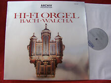 HI-FI Orgel   Bach  Walcha       German Archiv Produktion  LP