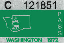 1972 WASHINGTON Vinyl Sticker Decal -CAR/Passenger License Plate Reg.TAB TAG-New