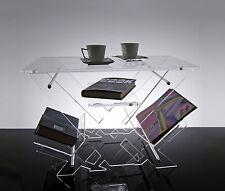 Slato Tavolino da salotto dal design moderno in plexiglass trasparente Ariel