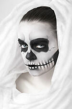 BEAUTIFUL MEXICAN SUGAR SKULL CANVAS PICTURE #44 STUNNING GOTHIC MAKE UP CANVAS