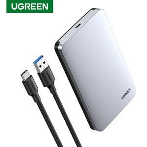 "Ugreen HDD Case SATA to USB C 3.1 Gen 2 Hard Drive Box 6Gbps 2.5"" SSD Enclosure"