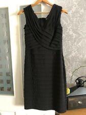Adrianna Papel Dress Size 10 Black Layer Sleeveless Evening Party