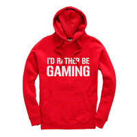 I'd Rather Be Gaming Kids Gamer Hoodie Hooded Sweatshirt Ages 3-13