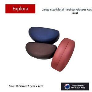 Large Size Sunglasses Eyeglasses Metal Hard Case - Solid Colour Series 1