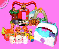 Fisher Price LITTLE PEOPLE Surprise Sounds ZOO with 13 Animals and 2 Characters