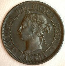1901 Copper Canadian Large Cent Coin 1-Cent Canada XF #5