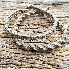 Hand Made Hemp Macrame Mens/Womens Bracelets, Beach Boho