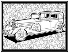 Coloring Page - Retro Car # 11 (Hi-Res JPG file will be sent by email)
