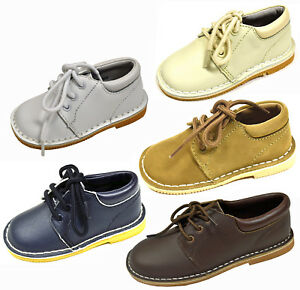 L'Amour Boy's Leather Lace-Up Casual Dress Shoes Toddler & Child Sizes - 282513