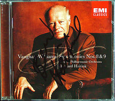 Bernard HAITINK Signiert VAUGHAN WILLIAMS Symphony 8 & 9 EMI CD 2001 Sinfonien