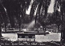 FOGGIA SAN SEVERO 08 GIARDINI - FONTANA Cartolina FOTOGRAFICA viaggiata 1952