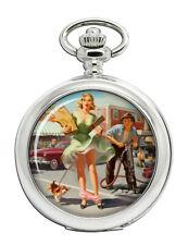 Shopper's Dilemna Pin-up Girl Pocket Watch