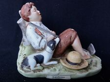 "Norman Rockwell Figurine Statue - "" Lazy Bones "" - In Box"