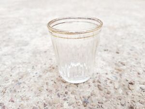 1920's VINTAGE SGF 27 CLEAR GLASS CARNIVAL MINI TEQUILA SHOT glass, JAPAN