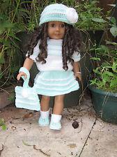 """Patrón de punto ropa de muñecas """"Stephanie"""" cabrá muñecas American Girl/otros 18"""""""
