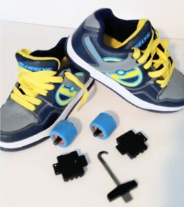 Heelys Skate Shoes Blue/Yellow Style# 770236 (Sz. 4 Youth)