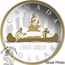 Canada 2015 $1 Renewed Silver Dollar The Voyageur Silver Coin