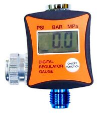 "1/4"" Digital Air Regulator w/ Pressure Gauge HVLP Paint Spray Gun In Line Use"