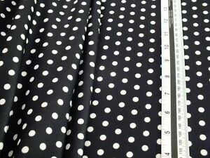 stretch crepe jersey,  spotty black and white